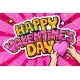 Happy Valentine's Day Lettering in Pop Art Style - GraphicRiver Item for Sale