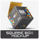 Square Box Mock-Up - GraphicRiver Item for Sale