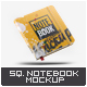 Square Notebook Mock-Up - GraphicRiver Item for Sale