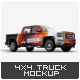 Truck 4X4 Mock-Up - GraphicRiver Item for Sale