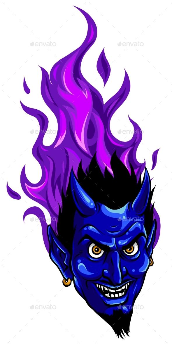 Evil Burning Halloween Symbol