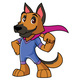 Super Dog Mascot - GraphicRiver Item for Sale