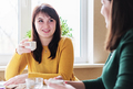 Girlfriends drink coffee - PhotoDune Item for Sale