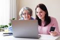 Old and young woman shopping online - PhotoDune Item for Sale