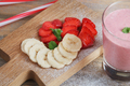 Delicious Strawberry and Banana Smoothie - PhotoDune Item for Sale