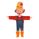 Scarecrow Costume Vector - GraphicRiver Item for Sale