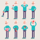 Injuries To Bones And Internal Organs Vector Cartoon Illustration - GraphicRiver Item for Sale