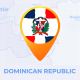 Dominican Republic Map - Republica Dominicana Travel Map - VideoHive Item for Sale