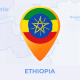 Ethiopia Map - Federal Democratic Republic of Ethiopia Travel Map - VideoHive Item for Sale