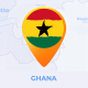 Ghana Map - Republic of Ghana Travel Map - VideoHive Item for Sale