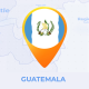 Guatemala Map - Republic of Guatemala Travel Map - VideoHive Item for Sale