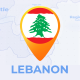 Lebanon Map - Lebanese Republic Travel Map - VideoHive Item for Sale