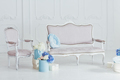 Light vintage style sofa and armchair - PhotoDune Item for Sale