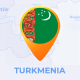 Turkmenistan Map -Turkmenia Travel Map - VideoHive Item for Sale