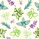 Seamless Pattern with Provencal Herbs - GraphicRiver Item for Sale