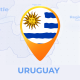 Uruguay Map - Oriental Republic of Uruguay Travel Map - VideoHive Item for Sale