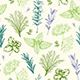 Vintage Pattern with Provencal Herbs - GraphicRiver Item for Sale