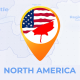 North America Map - North America Travel Map - VideoHive Item for Sale