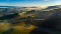 Countryside farm hills and valleys at sunrise with fog, California - PhotoDune Item for Sale