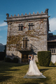 Couple on their wedding in front of a galician Pazo - PhotoDune Item for Sale