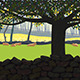 Landscape with cattle - GraphicRiver Item for Sale