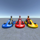 3 Low Poly Karts with Player 1 - 3DOcean Item for Sale