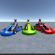 3 Low Poly Karts with Player 2 - 3DOcean Item for Sale