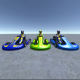 3 Low Poly Karts with Player 3 - 3DOcean Item for Sale