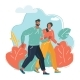Couple of Men and Women Walking - GraphicRiver Item for Sale