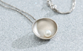 silver necklace with pearl - PhotoDune Item for Sale