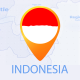 Indonesia Map - Republic of Indonesia Travel Map - VideoHive Item for Sale