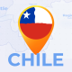 Chile Map - Republic of Chile Travel Map - VideoHive Item for Sale
