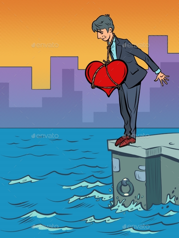 Suicide Man in Love with a Big Heart