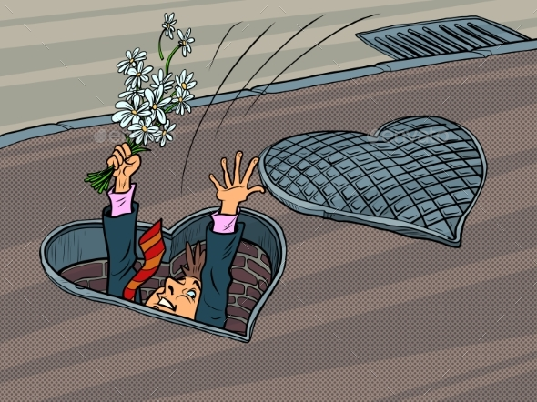 Man in Love Was Going on a Date and Fell Into a Manhole