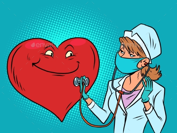 A Female Doctor Listens To the Heart