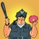 Fat Cop with a Doughnut - GraphicRiver Item for Sale