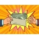 Bribe or a Bonus Dollars in an Envelope - GraphicRiver Item for Sale