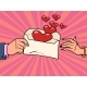 Love in an Envelope Red Heart Valentine Card - GraphicRiver Item for Sale