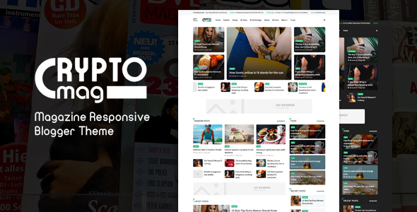 Crypto Mag – Magazine Responsive Blogger Theme, Gobase64