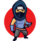 Stealthy Ninja Mascot Logo - GraphicRiver Item for Sale