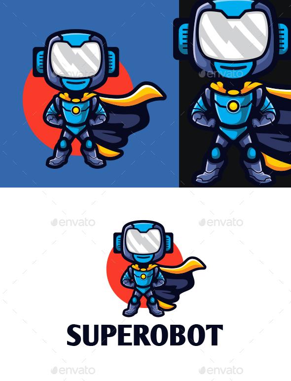 Super Robot Mascot Logo