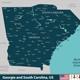 Georgia and South Carolina, United States - GraphicRiver Item for Sale
