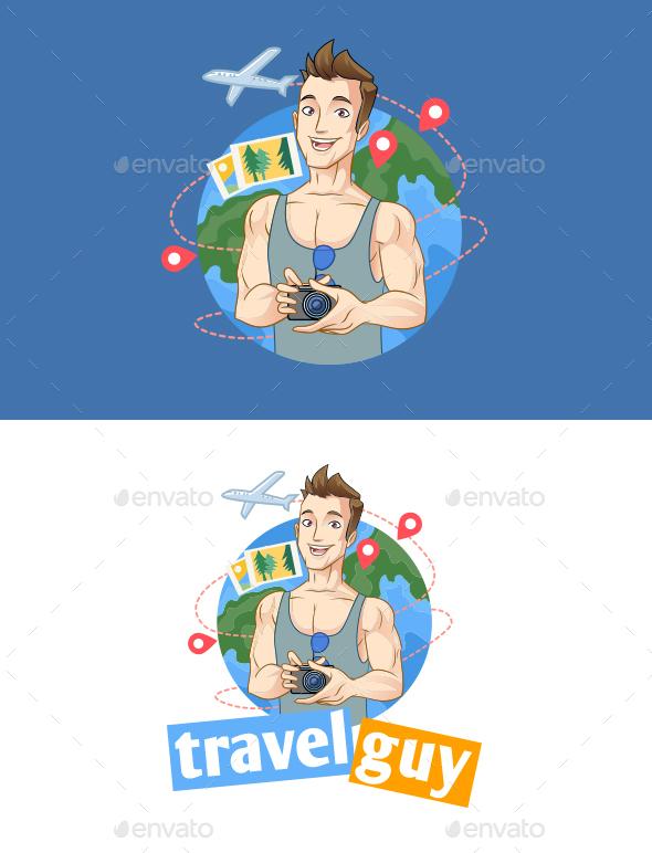 Traveler Mascot Logo