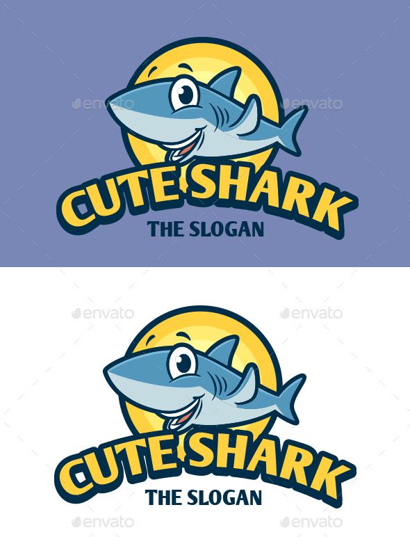 Cute Shark Mascot Logo
