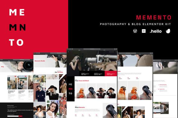 Memento – Photography & Blog Elementor Template Kit, Gobase64