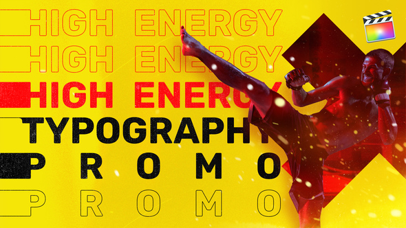 Energy Typography Promo  | For Final Cut & Apple Motion