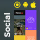 Howsup Social Android App Template + Social iOS App Template (HTML + CSS | IONIC 5) - CodeCanyon Item for Sale