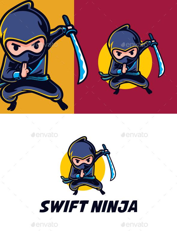 Swift Ninja Mascot Logo