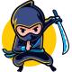 Swift Ninja Mascot Logo - GraphicRiver Item for Sale