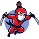 Jumping Ninja Attack Mascot Logo - GraphicRiver Item for Sale
